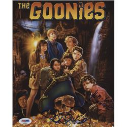 """Richard Donner  Jeff Cohen Signed """"The Goonies"""" 8x10 Photo Inscribed """"Chunk"""" (PSA Hologram)"""