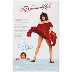 """Kelly LeBrock Signed """"The Woman in Red"""" 12x18 Poster (JSA COA)"""