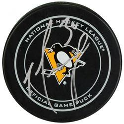 Matt Murray Signed Pittsburgh Penguins Logo Hockey Puck (Fanatics Hologram)