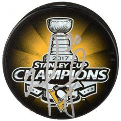 Matt Murray Signed 2017 Stanley Cup Pittsburgh Penguins Logo Hockey Puck (Fanatics Hologram)