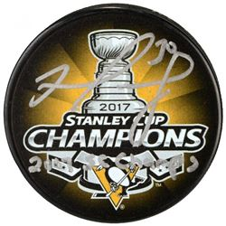 """Matt Murray Signed 2017 Stanley Cup Pittsburgh Penguins Logo Hockey Puck Inscribed """"2017 SC Champs"""""""