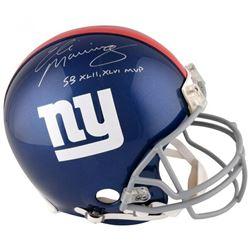 "Eli Manning Signed New York Giants Full-Size Authentic On-Field Helmet Inscribed ""SB XLII MVP""  ""SB"