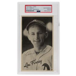 Lou Finney Signed 1936 Goudey Wide Pen Premiums R314 #A31 (PSA Encapsulated)