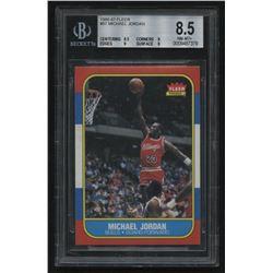 1986-87 Fleer #57 Michael Jordan RC (BGS 8.5)