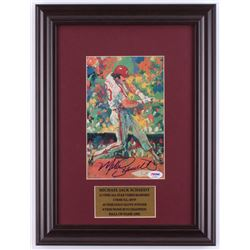 Mike Schmidt Signed LeRoy Neiman Philadelphia Phillies 12x16 Custom Framed Print Display (PSA COA)