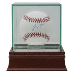 J. T. Realmuto Signed OML Baseball with High-Quality Display Case (Fanatics Hologram)