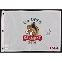 Dustin Johnson Signed 2016 U.S. Open Pin Flag (JSA COA)