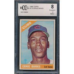 1966 Topps #110 Ernie Banks (BCCG 8)