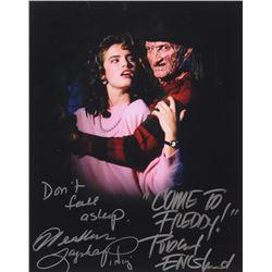 "Robert Englund  Heather Langenkamp Signed ""A Nightmare on Elm Street"" 11x14 Photo With Multiple Insc"