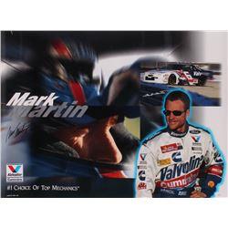 Mark Martin Signed NASCAR 19x26 Photo (JSA COA)