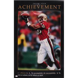 Jerry Rice Signed San Francisco 49ers 22x33 Poster (JSA Hologram)