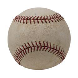 2008 Philadelphia Phillies Game Used OML Baseball (MLB Hologram)