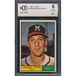 1961 Topps #200 Warren Spahn (BCCG 8)