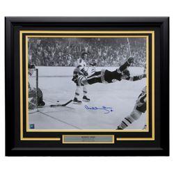 Bobby Orr Signed Boston Bruins 22x27 Custom Framed Photo Display (Orr COA)