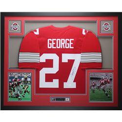 "Eddie George Signed 35"" x 43"" Custom Framed Jersey (JSA COA)"