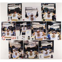 Lot of (10) Signed Boston Bruins Stanley Cup Champions 8x10 Photos with Gregory Campbell, Rich Pever