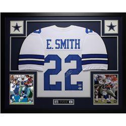 "Emmitt Smith Signed 35"" x 43"" Custom Framed Jersey (Beckett COA  Prova Hologram)"