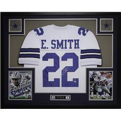 "Emmitt Smith Signed 35"" x 43"" Custom Framed Jersey (Beckett COA)"