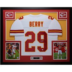 "Eric Berry Signed 35"" x 43"" Custom Framed Jersey (JSA COA)"