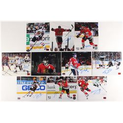 Lot of (10) Signed Chicago Blackhawks 8x10 Photos with Scott Darling, Trevor Van Riemsdyk, Tyler Mot