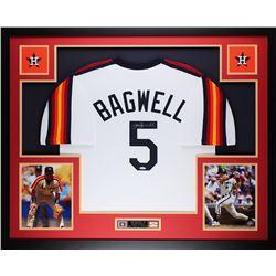"Jeff Bagwell Signed 35"" x 43"" Custom Framed Jersey (TriStar Hologram)"