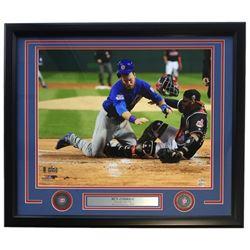 Ben Zobrist Chicago Cubs 2016 World Series Champions 22x27 Custom Framed Photo Display