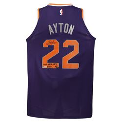 "Deandre Ayton Signed Phoenix Suns LE Jersey Inscribed ""2018 NBA #1 Pick"" (Game Day Legends COA  Stei"