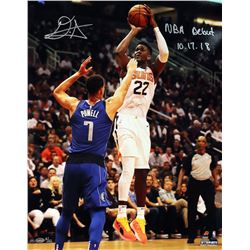 """DeAndre Ayton Signed Phoenix Suns 16x20 LE Photo Inscribed """"NBA Debut 10.17.18"""" (Game Day Legends CO"""