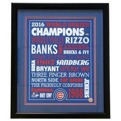 Chicago Cubs 2016 World Series 22x27 Custom Framed Photo Display