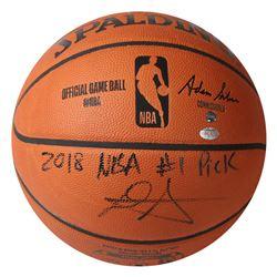 "Deandre Ayton Signed NBA Game Ball Series LE Basketball Inscribed ""2018 NBA #1 Pick"" (Game Day Legen"