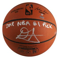 """Deandre Ayton Signed LE Official NBA Game Ball Basketball Inscribed """"2018 NBA #1 Pick"""" (Game Day Leg"""