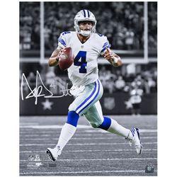 Dak Prescott Signed Dallas Cowboys 16x20 LE Photo (Panini COA)