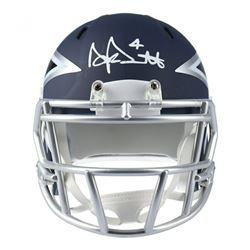 Dak Prescott Signed Dallas Cowboys AMP Speed Mini Helmet (Fanatics Hologram)