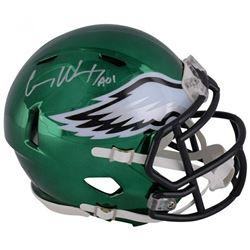 "Carson Wentz Signed Philadelphia Eagles Chrome Speed Mini Helmet Inscribed ""AO1"" (Fanatics Hologram)"