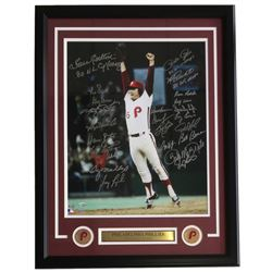 1980 Philadelphia Phillies 22x27 Custom Framed Photo Display Team-Signed by (24) With Mike Schmidt,