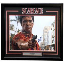 "Al Pacino Signed ""Scarface"" 27x29 Custom Framed Photo Display (Beckett COA)"