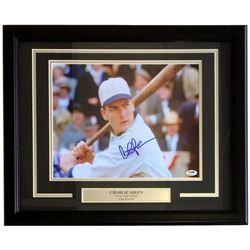 "Charlie Sheen Signed ""Eight Men Out"" 18x23 Custom Framed Photo Display (PSA COA)"