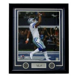 Dak Prescott Dallas Cowboys 22x27 Custom Framed Photo Display with Engraved Signature