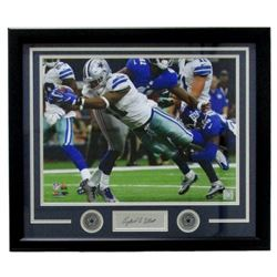 Ezekiel Elliott Dallas Cowboys 22x27 Custom Framed Photo Display with Laser Engraved Signature
