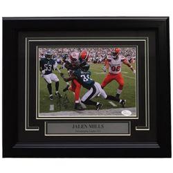 Jalen Mills Signed Philadelphia Eagles Super Bowl LII 14x17 Custom Framed Photo Display (JSA COA)