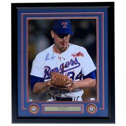 Nolan Ryan Signed Texas Rangers 22x27 Custom Framed Photo Display (JSA COA  Ryan Hologram)