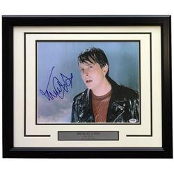 "Michael J. Fox Signed ""Back To The Future"" 16x20 Custom Framed Photo Display (PSA Hologram)"