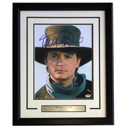 "Michael J. Fox Signed ""Back to the Future Part III"" 16x20 Custom Framed Photo Display (PSA COA)"