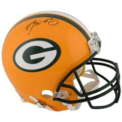 Aaron Rodgers Signed Green Bay Packers Full-Size Authentic On-Field Helmet (Fanatics Hologram)