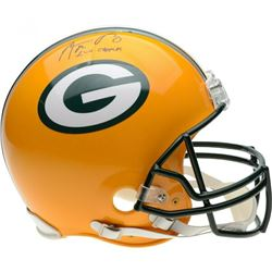 """Aaron Rodgers Signed Green Bay Packers Full-Size Authentic On-Field Helmet Inscribed """"XLV Champs"""" (F"""