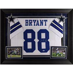 Dez Bryant Signed 32x37 Custom Framed Jersey Display (PSA COA)