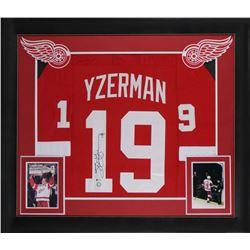 Steve Yzerman Signed 32x37 Custom Framed Jersey Display (Beckett COA)