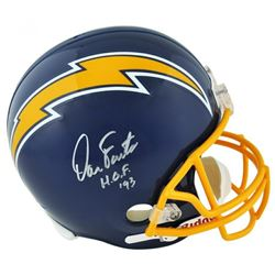 """Dan Fouts Signed San Diego Chargers Full-Size Helmet Inscribed """"HOF '93"""" (Fanatics Hologram)"""