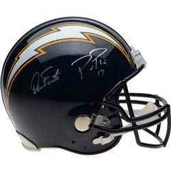 Dan Fouts  Philip Rivers Signed San Diego Chargers Full-Size Authentic On-Field Helmet (Fanatics Hol