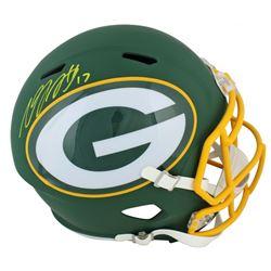 Davante Adams Signed Green Bay Packers AMP Alternate Speed Full Size Helmet (JSA COA)